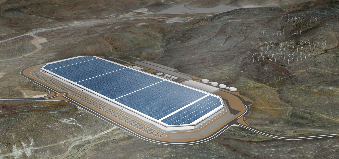 Nevada worked hard to get Tesla to build its Gigafactory in the state. Tesla CEO Elon Musk is also on the board of directors for SolarCity. Image: Tesla.