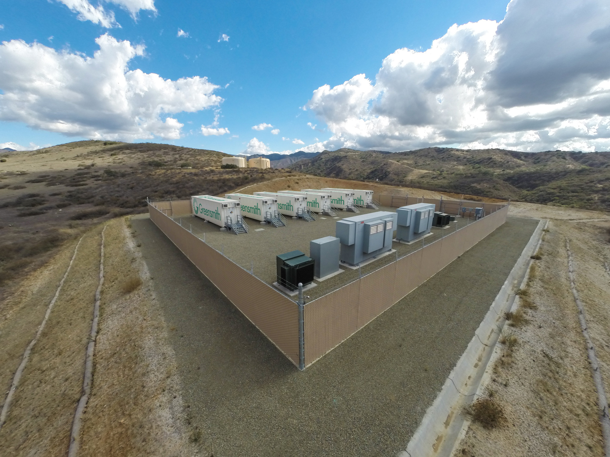 Energy storage can act as capacity resource and provide grid-balancing ancillary services, as well as executing other functions, sometimes simultaneously. Image: Greensmith Energy.