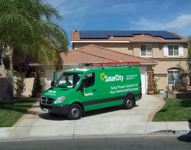 The top five five installers accounted for more than half of all residential solar installations between Q1 and Q3 this year. Credit: SolarCity