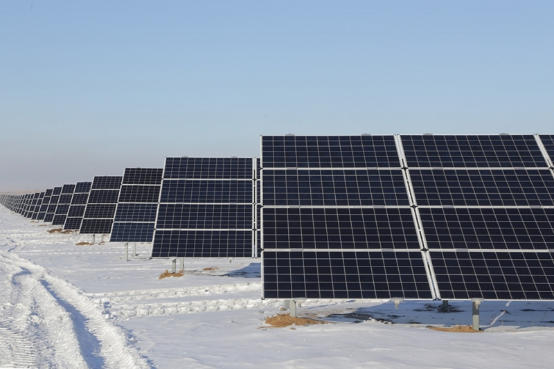 In total, 307,000 solar panels were installed at the site, which spans 164 hectares. Image: Karaganda Regional Government