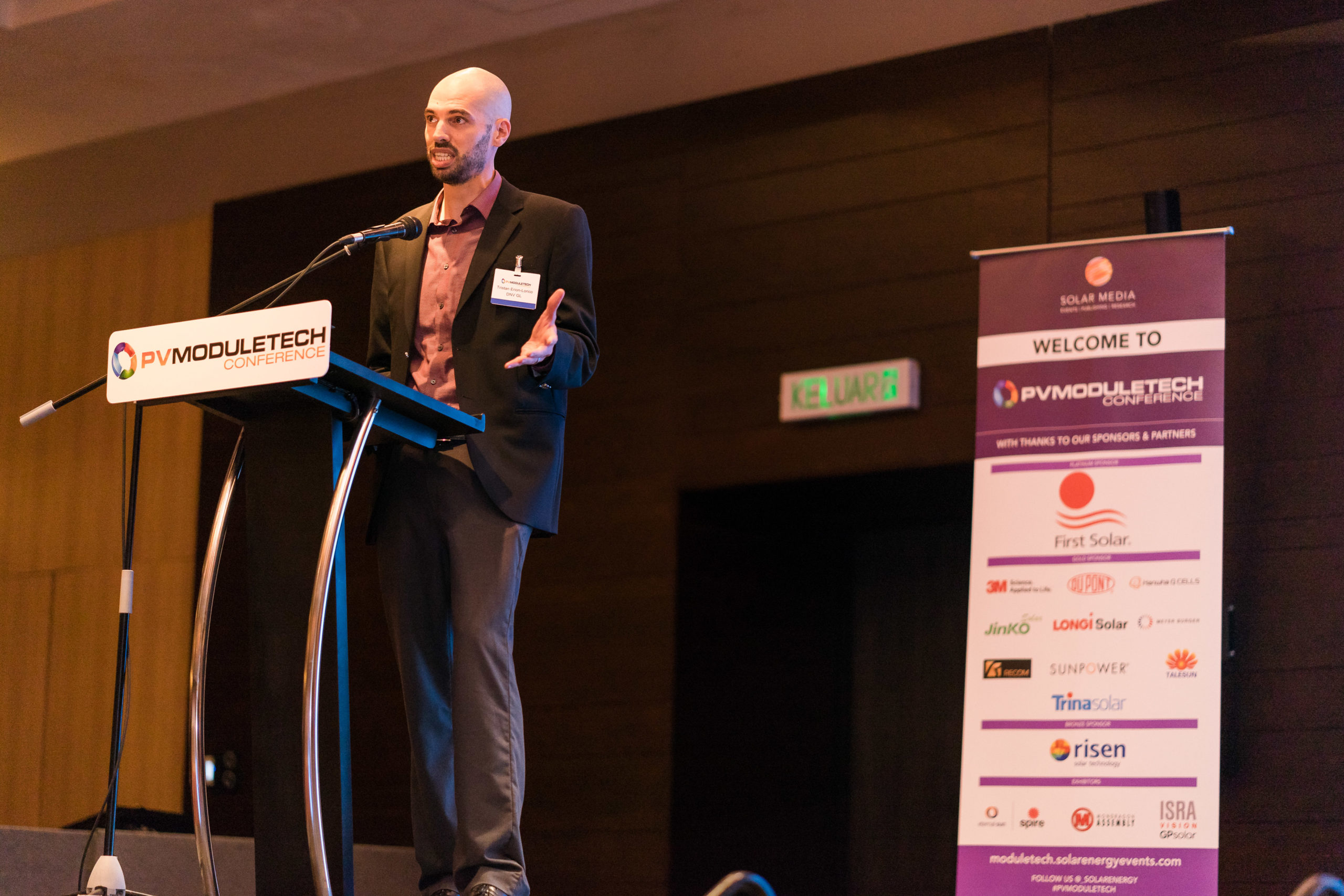 Tristan Erion-Lorico, Head of PV Module Business, Laboratory Services, at quality assurance and risk management company, DNV GL, at PV ModuleTech 2018 in Penang.