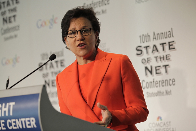 Secretary Pritzker at State of the Net in January 2014. Source: Flickr/US Department of Commerce