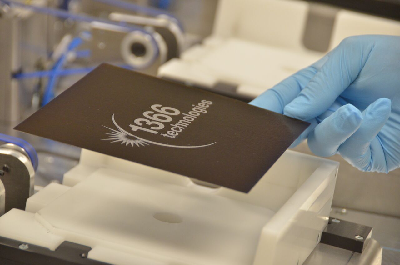 The companies are targeting lower silicon utilization to be less than 1.5g/W to create a cost position believed to unattainable with conventional ingot-based production methods and production costs of less than US$0.20 per wafer piece (unit). Image: 1366 Technologies