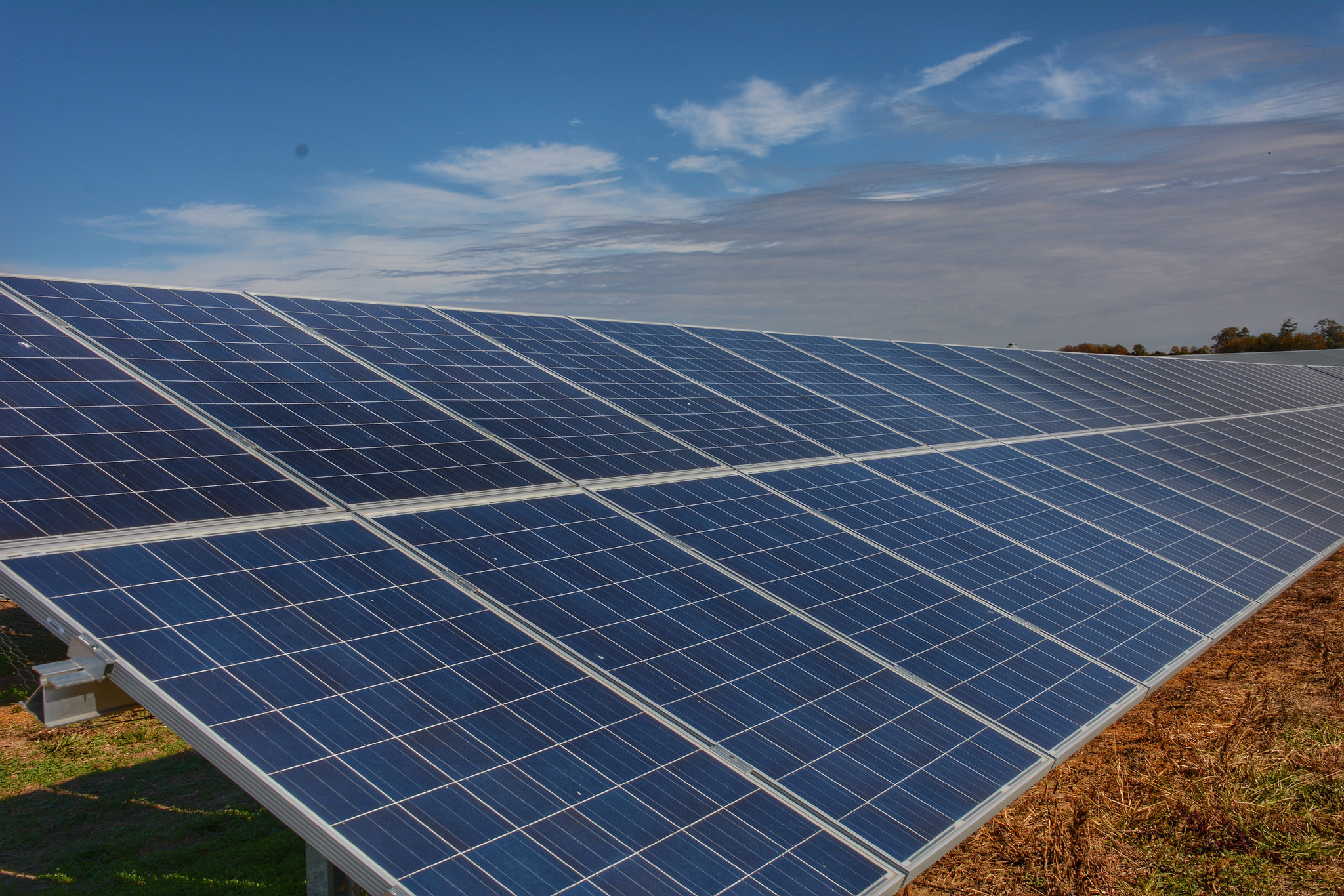 The hybrid solar/wind system will cover approximately half of the overall energy demands at the base. Image: Delaware Cooperative Extension / Flickr