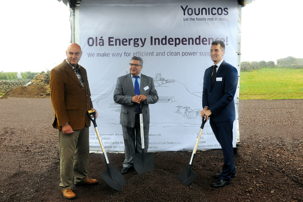 The project's ground-breaking ceremony. Image: Younicos.