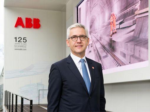 Bernhard Jucker, ABB's president of Europe. Source: ABB