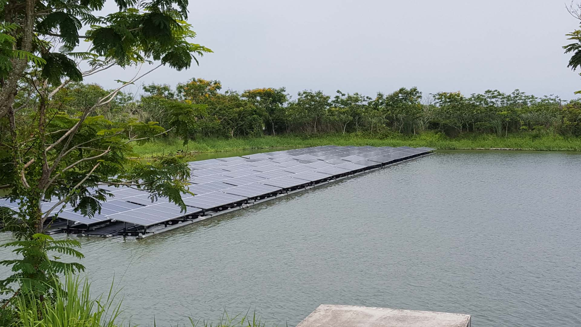Floating solar pilot scheme in the south of Taiwan.