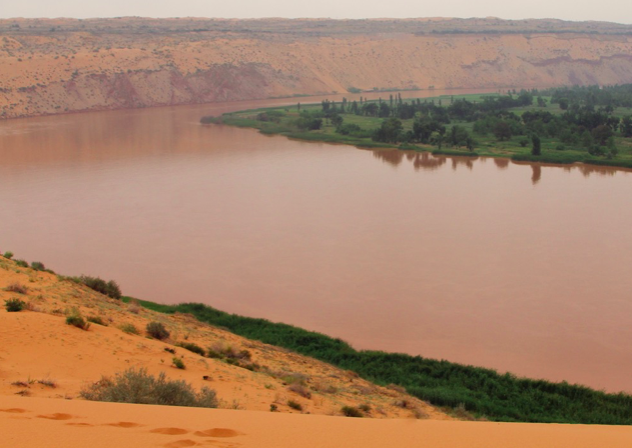 View of the Yellow River, Ningxia