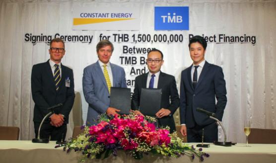 From L to R: Markus Ganterer (CFO, CE), Franck Constant (CEO, CE), Parinya Narkprasert (Team head of Corporate Banking, TMB), Nattakul Arunyakasem (Team lead of Investment Banking, TMB)