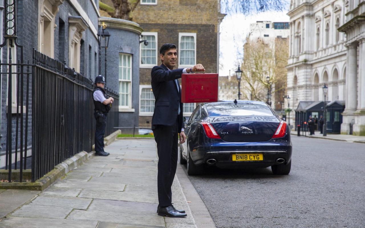 New UK chancellor Rishi Sunak presenting the Budget in London on Wednesday 11 January. Image: HM Treasury.