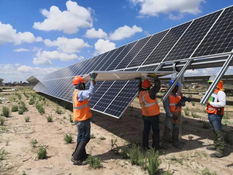 Featuring 191MW of LONGi Solar's mono-crystalline modules, El Llano is a 2017 auction winner and raised US$280m from banks in March 2019. Image credit: LONGi Solar