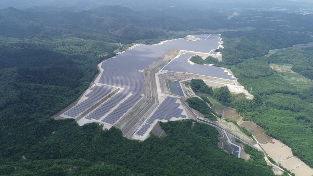 The 28MW  solar farm in Taiwa, Miyagi Prefecture. Image: Kyocera TCL Solar.