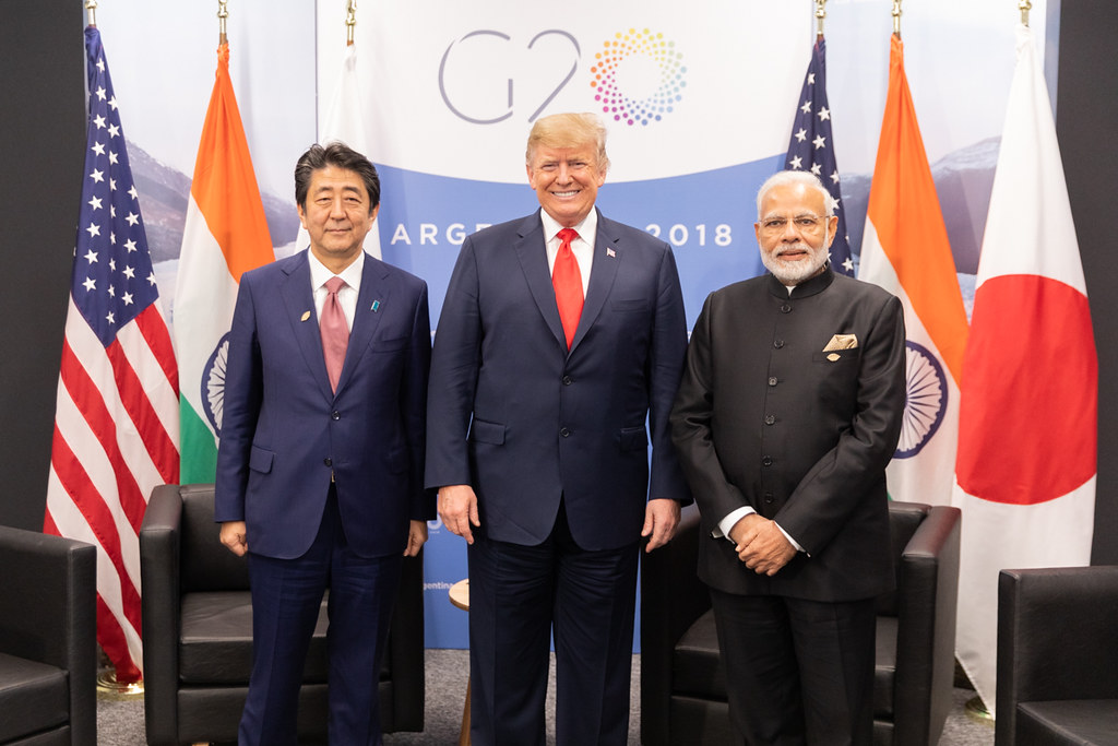 Here seen at earlier G20 talks in Argentina, Trump and Modi met at Osaka this week, hours after the WTO panel report was published (Credit: Flickr / The White House)