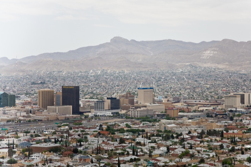 Aerial view over El Paso (US) and Ciudad Juárez (Mexico). Image credit: Charlie Llewellin / Flickr