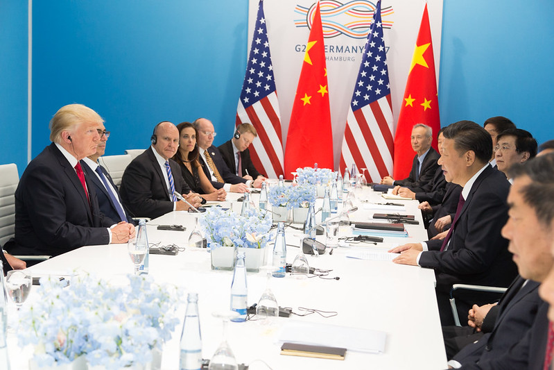 US president Donald Trump faces Chinese counterpart Xi Jinping at the G20 summit of July 2017 (Image credit: The White House / Flickr)
