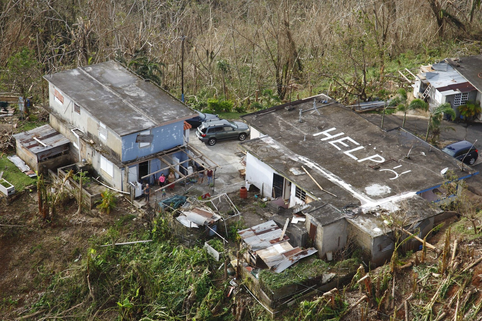 Hurricane Maria triggered a raft of solar and energy storage initiatives to repower homes and businesses (Credit: US Department of Defense)