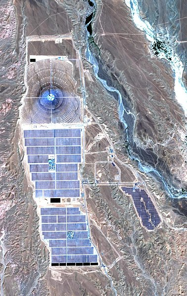 The Noor-Ouarzazate solar plant. Source: Wikimedia commons