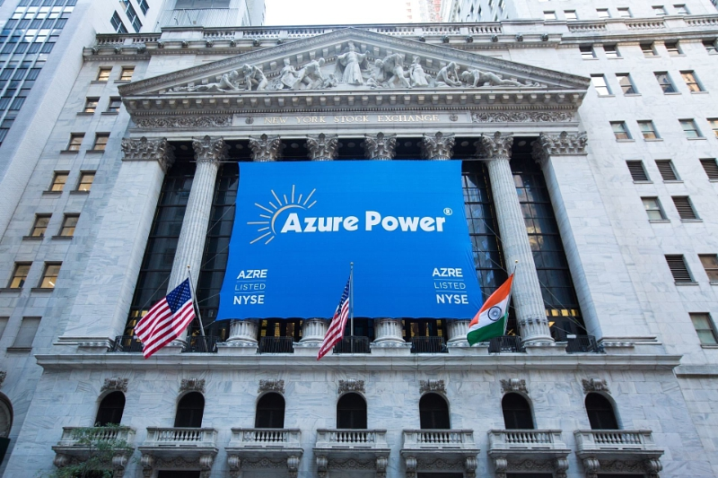 Azure Power's cumulative financing for India's solar sector has now exceeded US$1 billion. Source: Azure Power