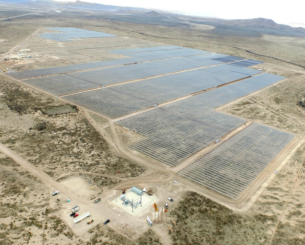 The 260 acre, 50MW plant is one of the largest solar installations in the entire state of Texas. Source: duergo