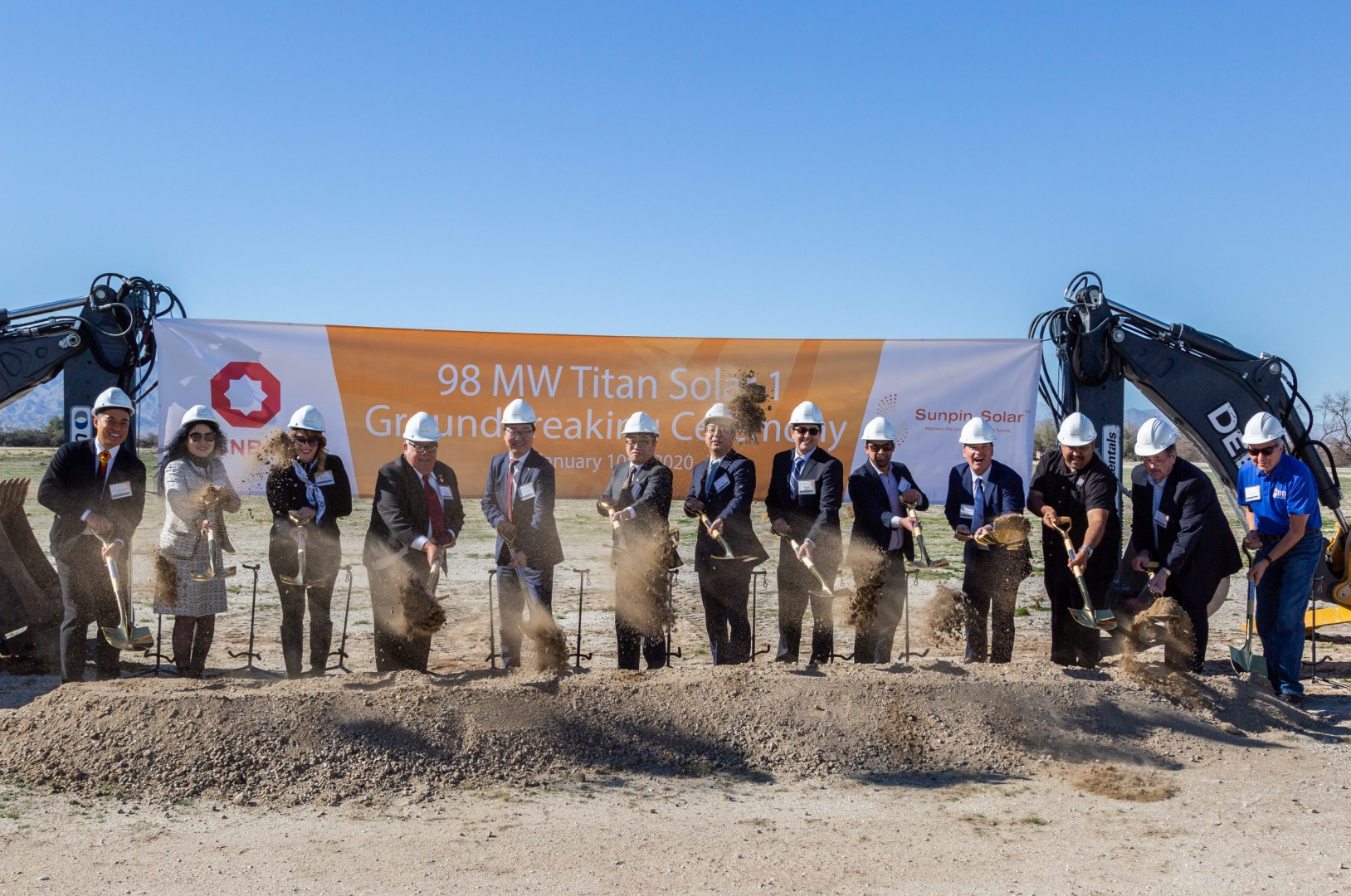 This stands as Sunpin Solar's second large utility-scale solar project in California, following the completion of the 96.75MW ColGreen North Shore installation in Riverside County, California in 2018. Image: Sunpin Solar