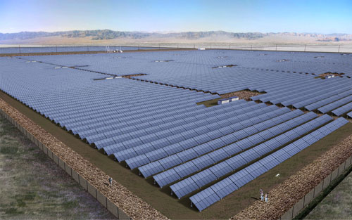The 328MW PV project is expected to come online by the end of 2018. Image: 8minutenergy