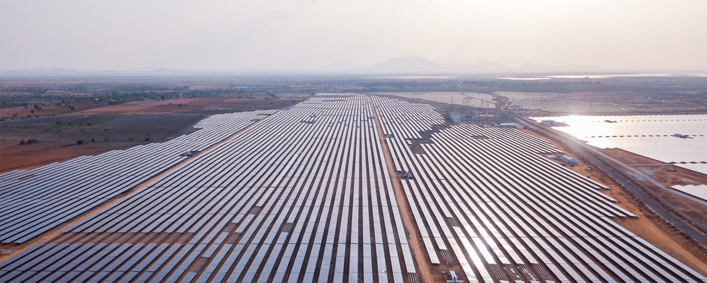 Adani is India's leading renewables company with a 2.8GW operating portfolio, according to JMK Research & Analytics. Image: Adani.