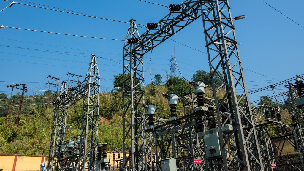 Now ADB with AIIB backing is funding 400kV transmission components in Tamil Nadu to connect at Pugalur. Credit: ADB, AIIB