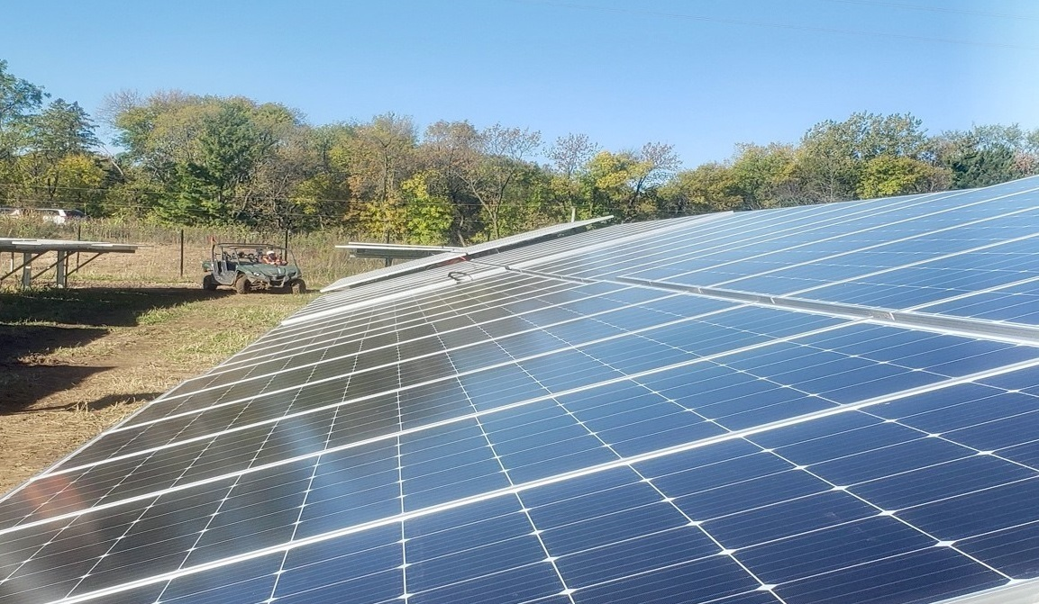 A community solar project owned by C2 Energy Capital in Minnesota. Image: C2 Energy Capital.