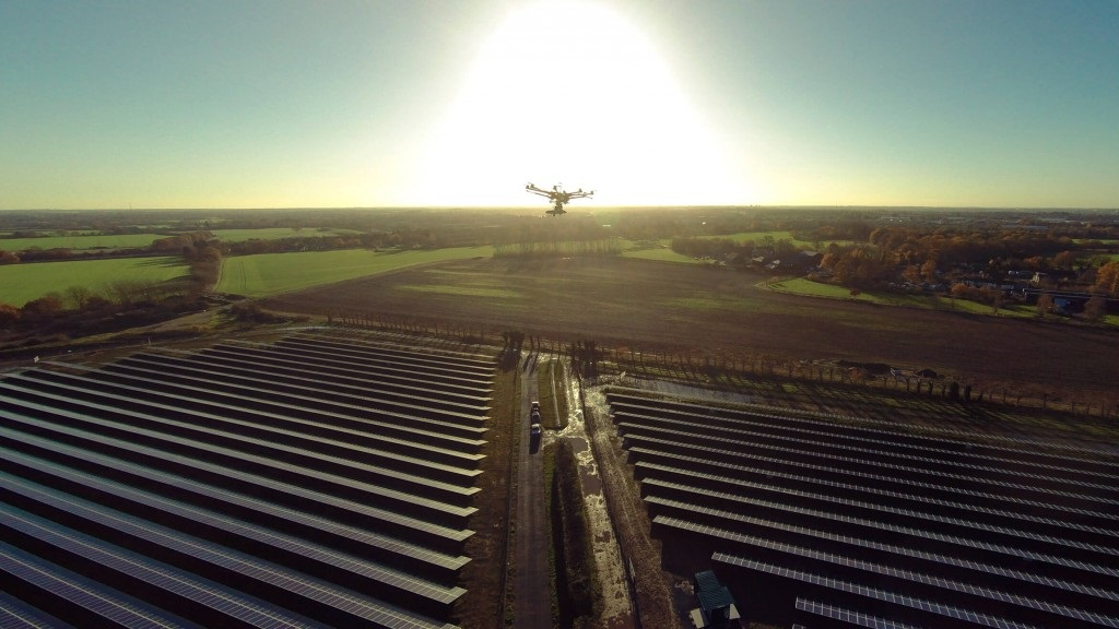 AI and machine learning could make drastic efficiency improvements to various facets of the solar supply chain, including autonomous drone-led O&M. Image: Above Surveying.