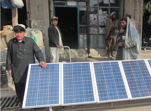 A distributed solar system at Panjwayi, in Kandahar Province, Afghanistan. Credit: USAID