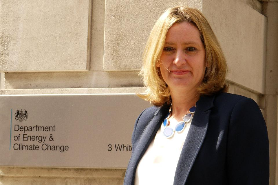 UK energy secretary Amber Rudd. The UK is still pressing Burssels for a suspension of the MIP. Image: DECC.