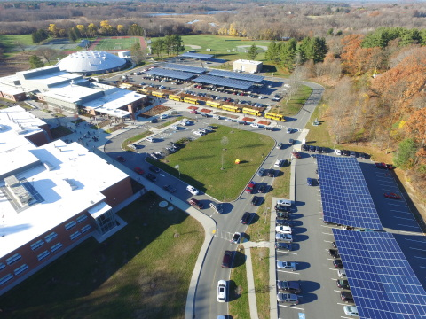 Ameresco's portfolio of community solar projects in Wayland will help offset 25% of the town's municipal electric needs. Image: Ameresco