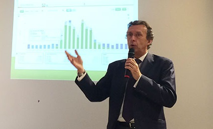 Antoine Cahuzac at the launch of the new self-consumption offering. Source: EDF ENR.