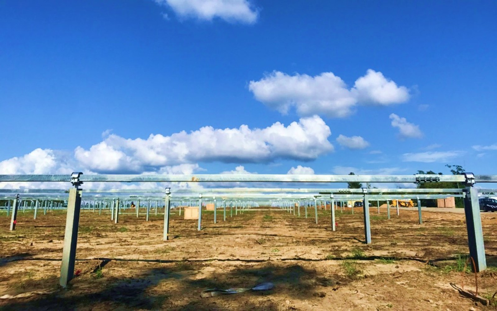 The first 3.1MW project, which will deploy Arctech Solar's single axis trackers, is already under construction. Image: Arctech Solar