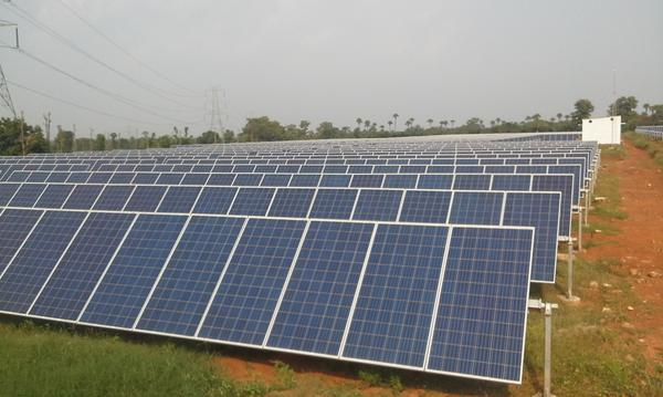 Armstrong's first solar PV plant in India. Credit: Armstrong.