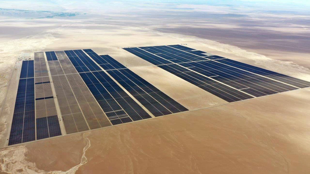 Mytilineos was the engineering, procurement and construction contractor for the 170MW Atacama Solar project (pictured) in Chile. Image: Mytilineos.