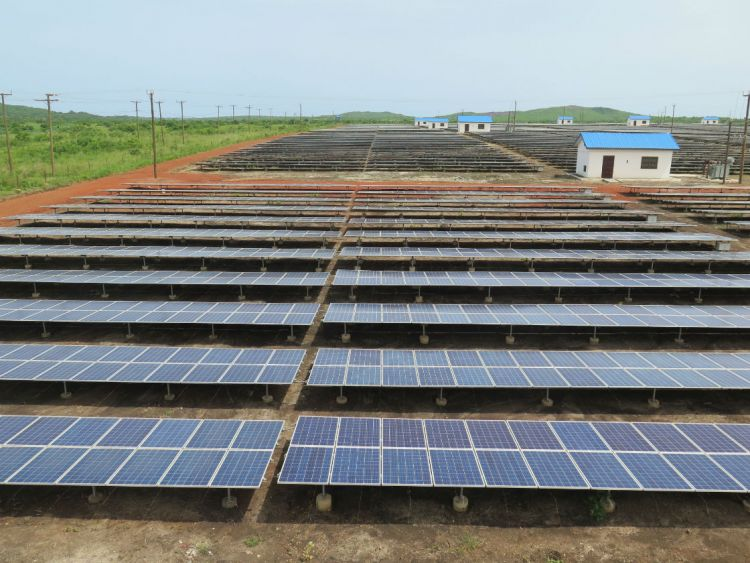 BXC's 20MW solar plant in Ghana. Credit: Tom Kenning