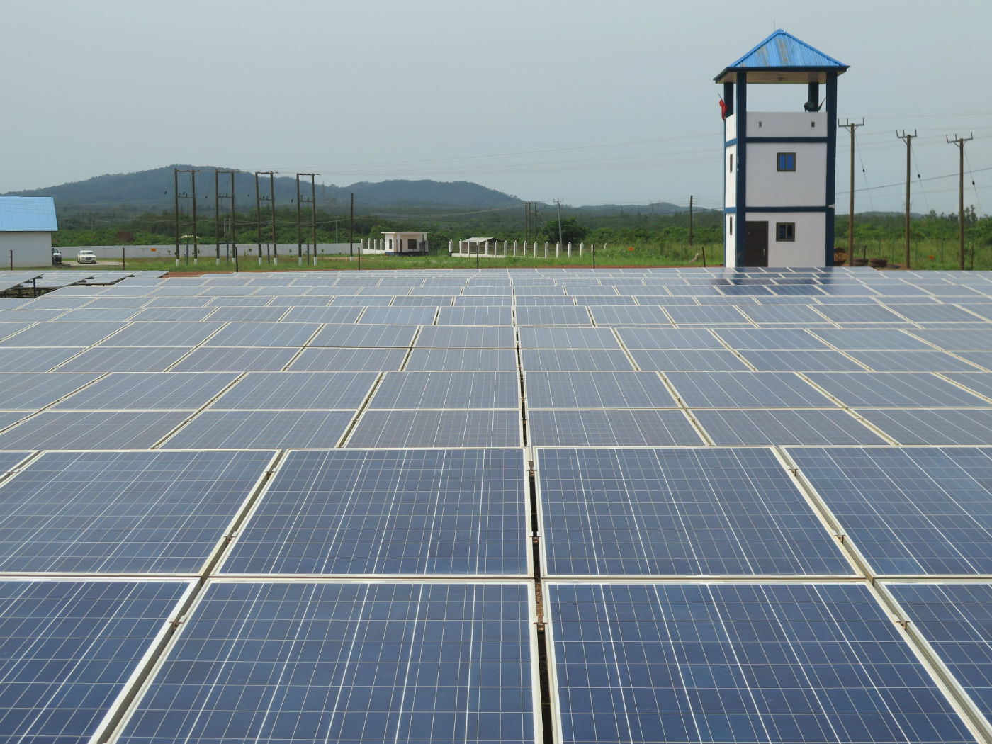 A 20MW pv plant in Ghana developed by BXC. Credit: Tom Kenning