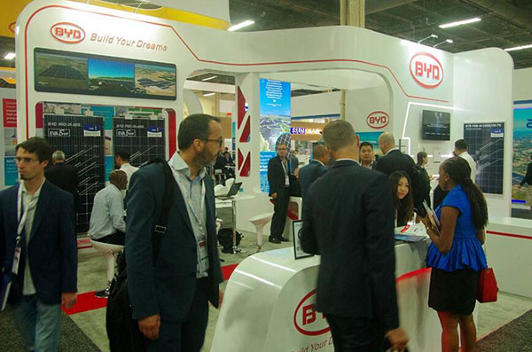 BYD's Booth at SPI 2017. Credit: BYD