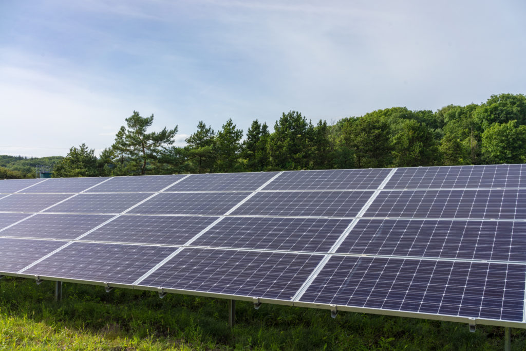 Ballygarvey Road solar farm, developed by Elgin Energy, is operational in Northern Ireland. Image: Elgin Energy.