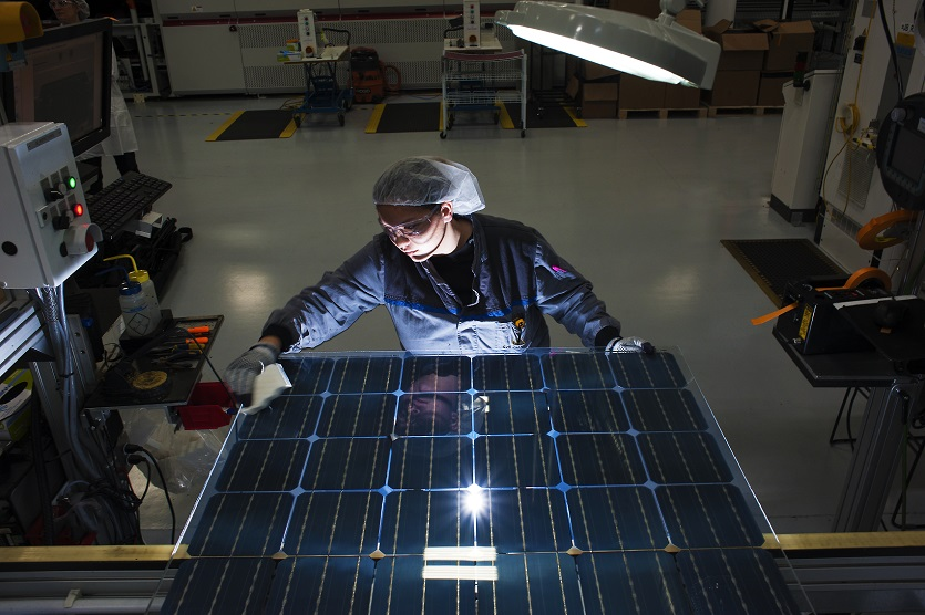 Modules will be installed on two roofs to test performance above different surfaces. Credit: SolarWorld