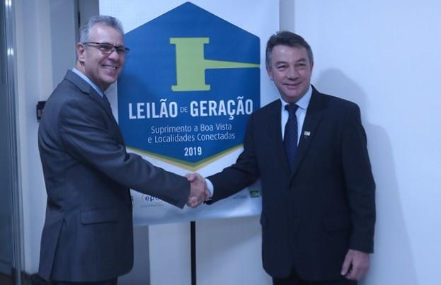 Minister Albuquerque (left) said Brazil's regulator has seen demand for solar-plus-biofuel for