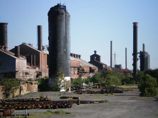 EVRAZ's Rocky Mountain steel mill in Pueblo was owned and run by the Colorado Fuel and Iron Company, better known as CF&I, for more than 100 years. It was acquired by Evraz in 2007. Source: Wikimedia Commons.
