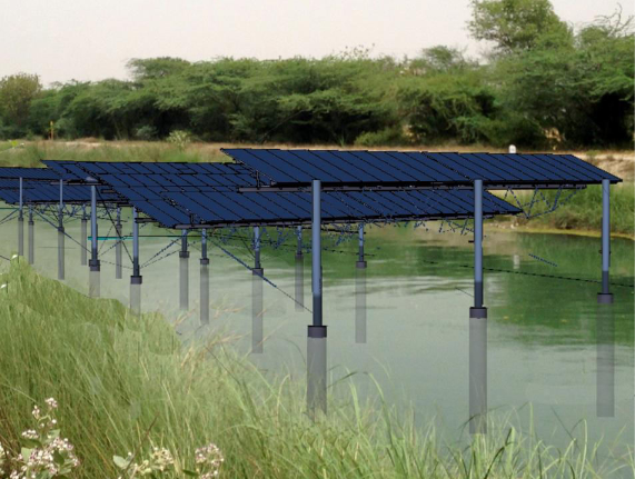 Punjab has costly land acquisitons so canal top solar is particularly suitable for this state. Credit: PEDA