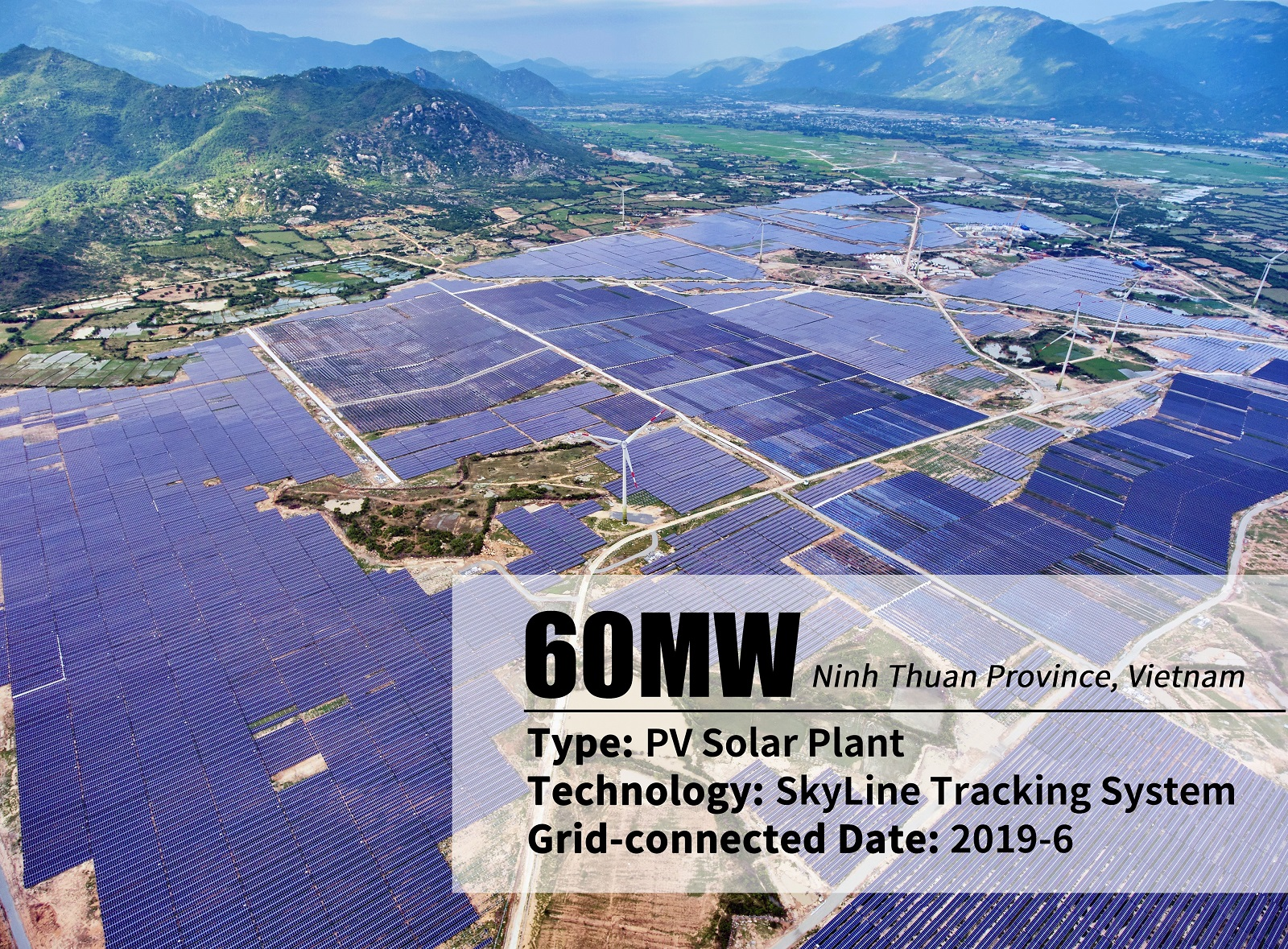 Arctech Solar supplying 60MW Skyline Tracking System to Trungnam Group project