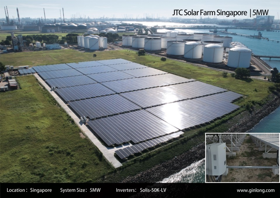 Solis supplying inverters for PV projects in Singapore.