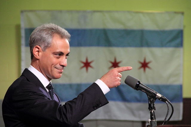 Chicago Mayor Rahm Emanuel. Source: Flickr/Daniel X. O'Neil