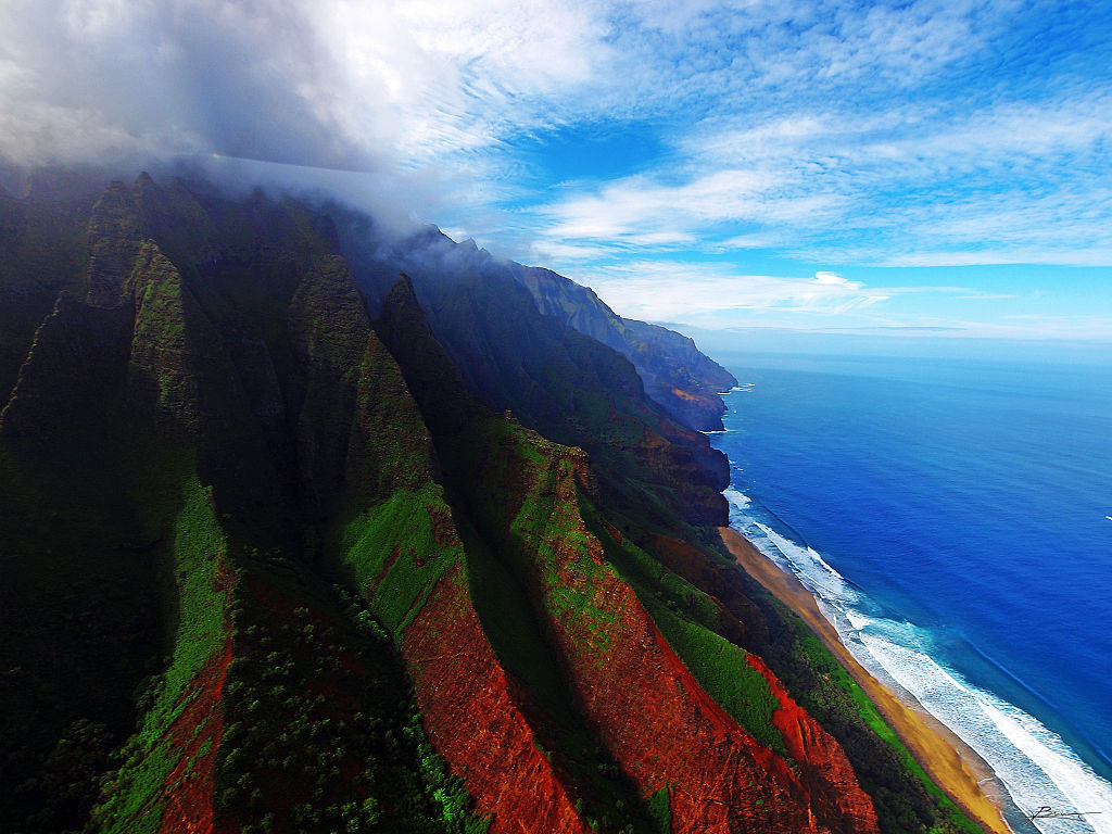 The coast of Kaua'i. Battery storage is described as an essential component of Hawaii's 10% renewable energy ambitions. Image: Flikcr user Paul Bica.
