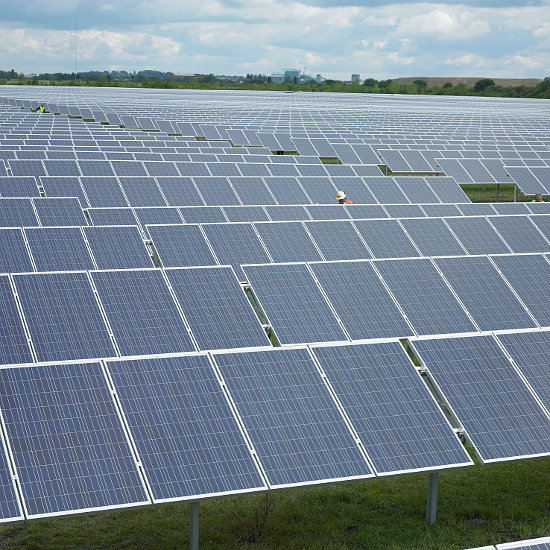 UK solar met 23.9% of electricity demand in early June following a period of rapid installation activity earlier this year. Image: Conergy.