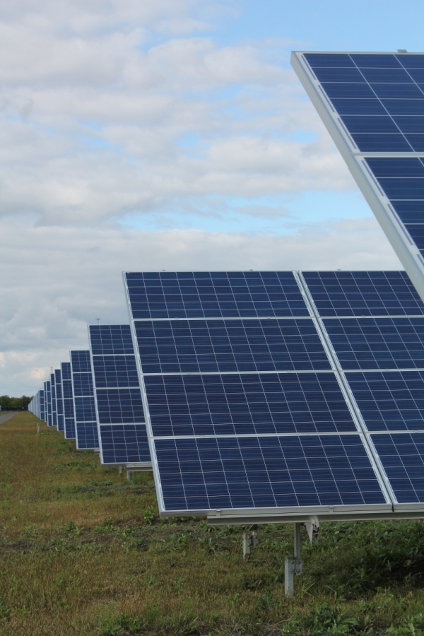The future of energy? Scarred by its nuclear past, Ukraine is now looking to new forms of energy generation such as solar. This is the 43MW Starokozache Power Plant in Odessa, south Ukraine, built by Activ Solar.